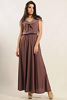 Нежное длинное шифоновое платье 42-52 размера