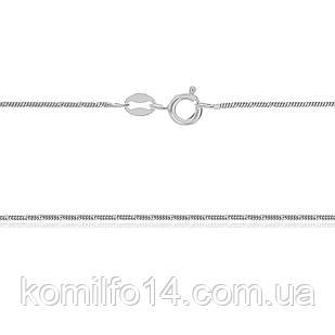 Серебряная цепь-снейк (родированная) 40см.