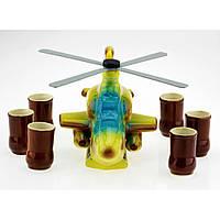 Коньячный набор Вертолет 7 предметов Керамика