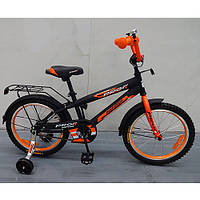 Двухколесный велосипед PROFI 14 дюймов G1452 Inspirer черно-оранжевый матовый