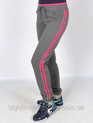 Брюки спортивные женские трикотажные под манжет, фото 2