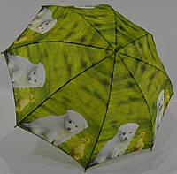 """Детский зонтик трость с зверушками на 6-10 лет  от фирмы """"Swift"""""""