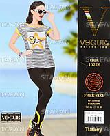 Женский комплект футболка+лосины Турция. VOGUE 10226. Размер 44-46.