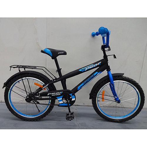 Двухколесный велосипед PROFI 14 дюймов G1453 Inspirer черно-синий матовый