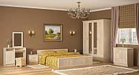 Недорогой спальный гарнитур Соната с четырехдверным шкафом. Производитель Мебель-Сервис