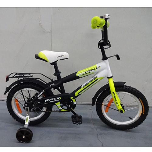 Двухколесный велосипед PROFI 14 дюймов G1454 Inspirer черно-салатовый матовый