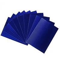 Гофрированный картон металлизированный Синий 270 гр/м2 20x30 см А4 1 шт