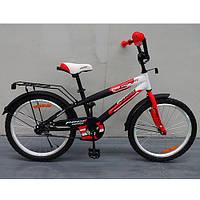Двухколесный велосипед PROFI 14 дюймов G1455 Inspirer черно-красный