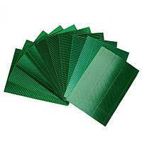 Гофрированный картон металлизированный Зеленый 270 гр/м2 20x30 см А4 1 шт