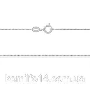 Серебряная цепь-снейк (родированная)45см.