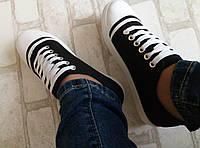 Кеды Fashion, кеды черные недорого черный, 36