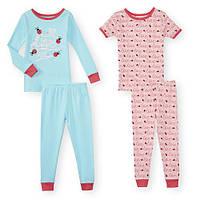 Пижама детская  комплект 4 предмета девочке  хлопок  BabiesRus  слип, фото 1