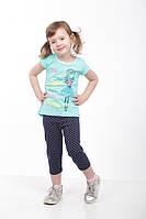 Детский летний комплект для девочки туника и лосины