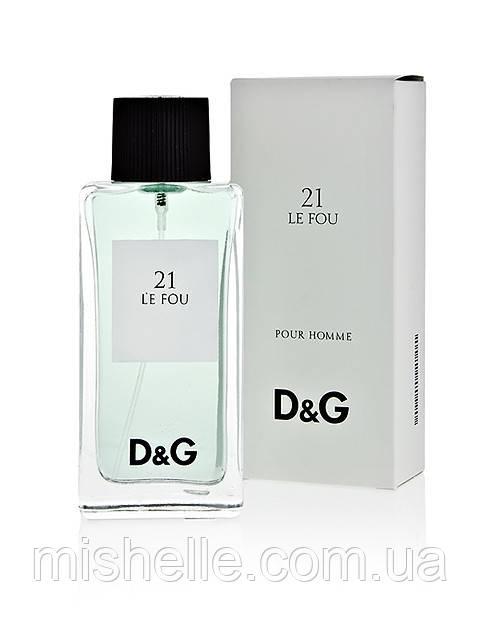 Мужской парфюм D&G Anthology Le Fou 21 (Дольче Габана Ле Фо) реплика