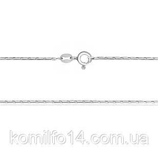 Серебряная цепь-снейк (родированная)40см.