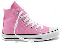 Женские высокие кеды Converse Chuck Taylor All Star (Конверс) розовые