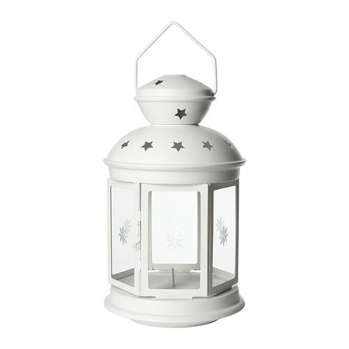 Декоративный фонарь белый 38 см