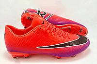 Футбольные бутсы Nike Mercurial Victory CR7 FG Hyper Punch/Black/Pink, фото 1