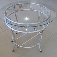 Журнальный столик белый круглый большой