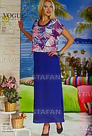 Женское летнее платье в пол с футболкой. VOGUE 10198. Размер 44-46.