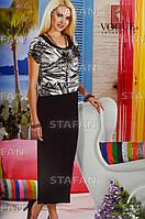 Женское летнее платье в пол с футболкой. VOGUE 10034. Размер 44-46.