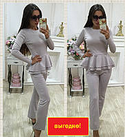 Женский брючный костюм брюки+блузка