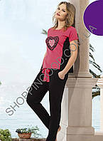 Женская пижама Shirly 1308, костюм домашний с брюками