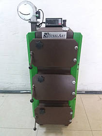 Котел твердотопливный длительного горения SteelArt SA-15 кВт