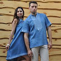 Парні вишиванки. Жіноча сукня + чоловіча сорочка. cf00828a096de