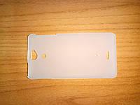 Чехол на заднюю крышку с soft-touch для Sony Xperia V LT25i накладка белая матовая полупрозрачная