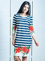 Повседневное женское платье в полоску Мальвы