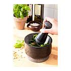 Ступка с пестиком ÄDELSTEN, мрамор черный 602.012.51, фото 3