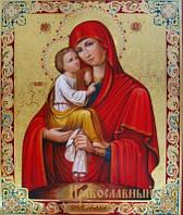 Писаная икона Почаевская Богородица