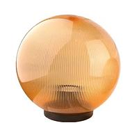 Шар диаметр 200 золото призмат. Lemanso  40W + база с E27 (ящик 18шт)