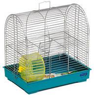 """Клетка """"Рокки с колесом"""" для мелких декоративных грызунов, хромированное, 37х28х36 см"""