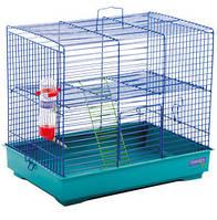 """Клетка """"Микки с лесенкой"""" для мелких декоративных грызунов, хромированное, 37х28х30 см"""
