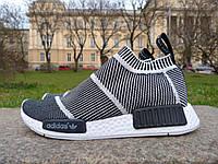 Молодежные черно-белые кроссовки из ткани S79150