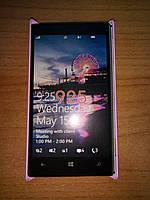 Чехол-накладка Nokia Lumia 925 нежно-розовый Бампер пластиковый с софт тач