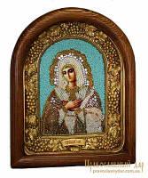 Икона из бисера Пресвятая Богородица Умиление