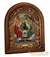 Икона из бисера Святая Троица Преподобного Андрея Рублева