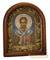 Икона из бисера Святитель Николай Чудотворец