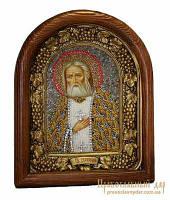 Икона из бисера Преподобный Серафим Саровский