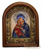 Икона из бисера Пресвятая Богородица Владимирская