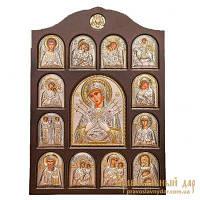 Домашний иконостас Пресвятая Богородица Семистрельная 28x42 см