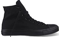 Женские высокие кеды Converse Chuck Taylor All Star Black (Конверс) черные