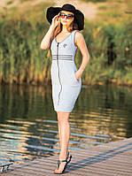 """Халат женский на молнии из летней махровой ткани (коллекция """"Марине"""")"""