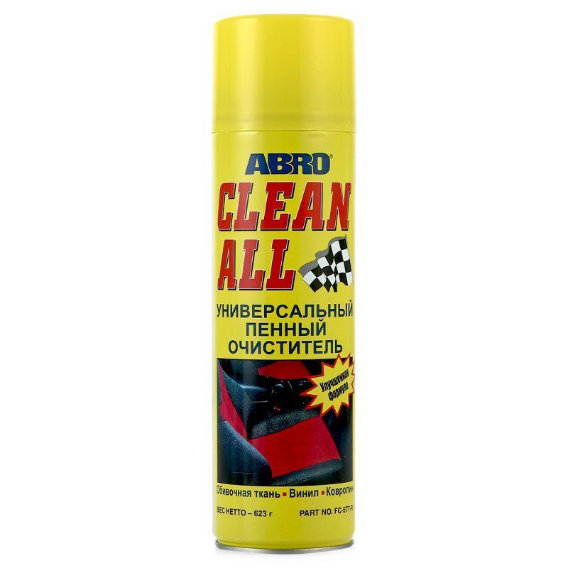Универсальный пенный очиститель салона авто ABRO FC-577 623г (аэрозоль)