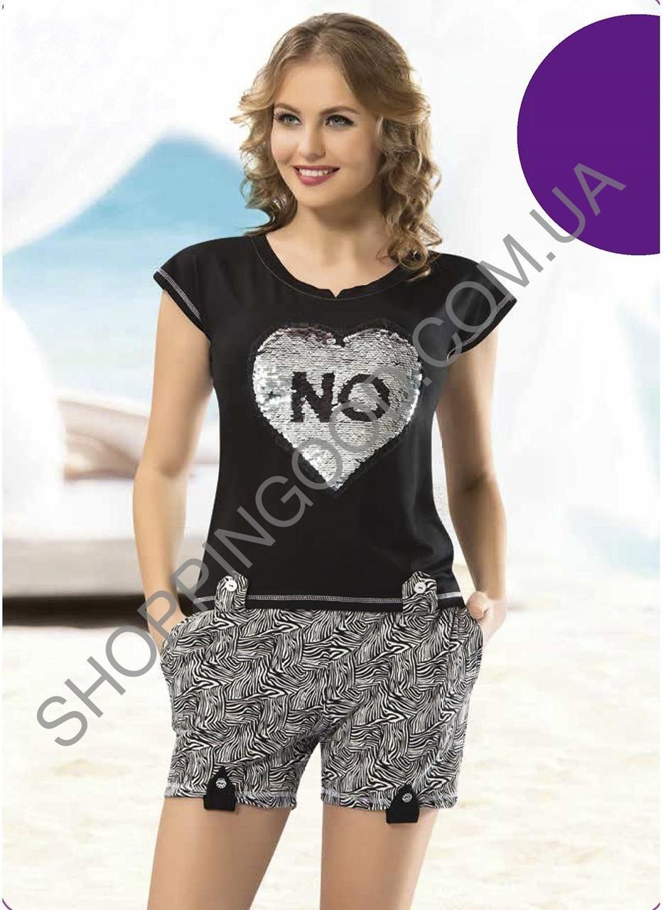 9930f76afe9b7 Костюм для дома и отдыха футболка и шорты Shirly 1117 недорого. Цена ...