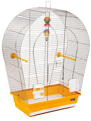 Клетка АРКА большая для мелких и средних декоративных птиц, хромированное, 44х27х65 см