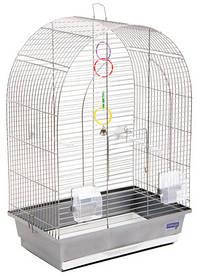 """Клетка """"Арка"""" для мелких декоративных птиц, хромированное, 44х27х65 см"""